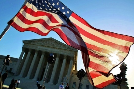 The U.S. Supreme Court hours before its landmark 2012 decision on health care reform. Its rulings on same-sex marriage will likely prove equally as divisive. (Photo credit: Getty Images)