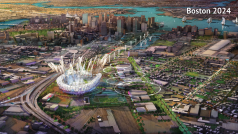 The Olympics would reshape parts of downtown Boston, especially the proposed stadium at Widett Circle (Photo Credit: Boston 2024)